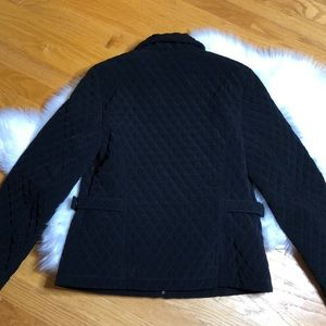 Gallery Jackets & Coats - Gallery black quilted zip front jacket small